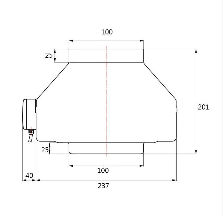Rohrventilator Rohrlüfter Industrieventilator radial dalap TURBINE M Ø200 8132