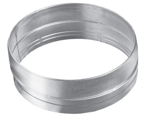 Verbinder Metallrohr Rohrverbinder Lüftungsrohr Abluftrohr Abluftkanal Belüftung