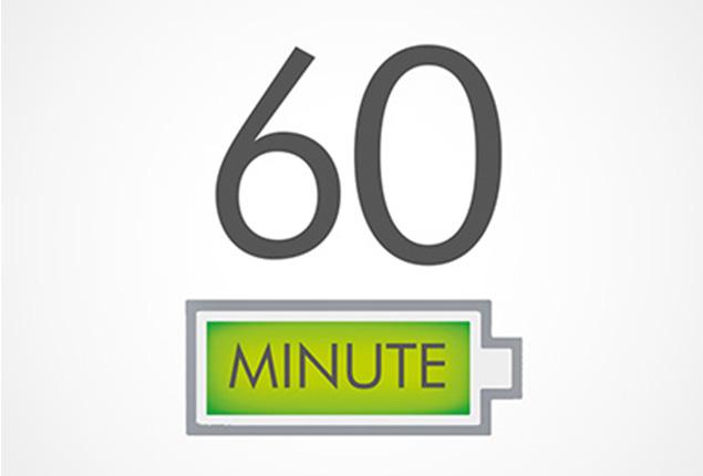 Do 60 minut odkurzania bez spadku mocy